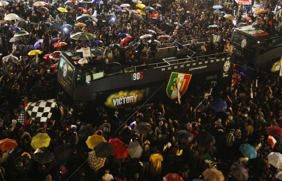 Festeggiamenti Juventus per lo scudetto vinto